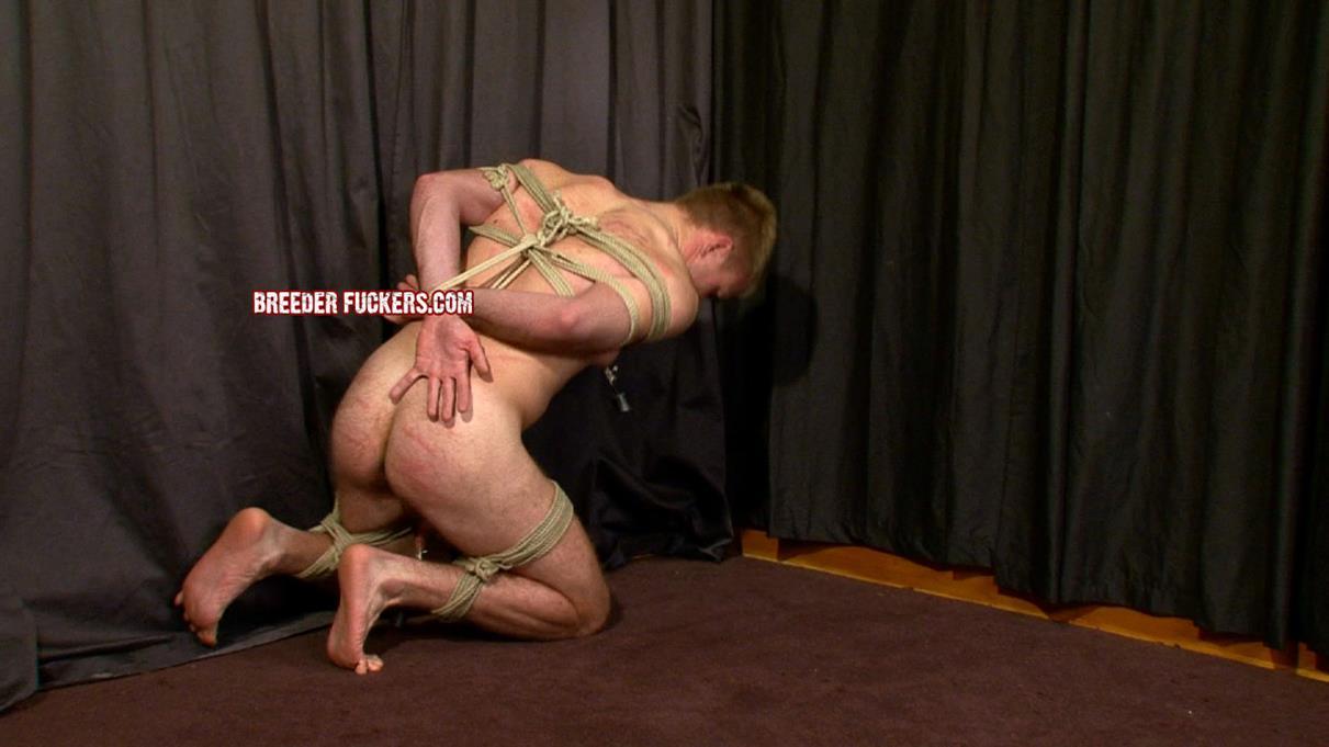 BreederFuckers - John Tied Up Flogged & Dildo Fucked BreederFuckers