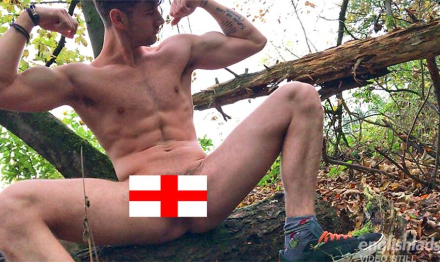 EnglishLads – James Harrison Wanks his Huge Uncut Cock in the Woods